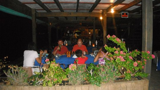 Spanish Town, Virgin Gorda: DINNER.