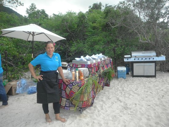 Spanish Town, Virgin Gorda: BUFFET