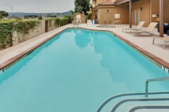 Relax and enjoy the sun by the Hampton Inn Morgan Hill hotel pool.