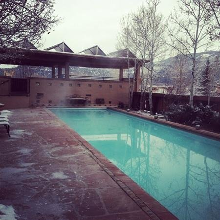 Ridgway, : view of the heated pool and solar spa