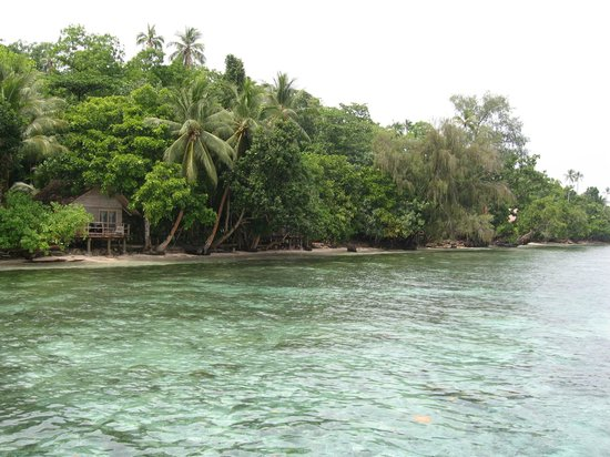 Sanbis Resort: Rooms from the jetty