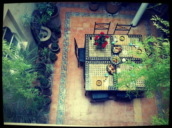 Riad Zelaka: view from upstairs