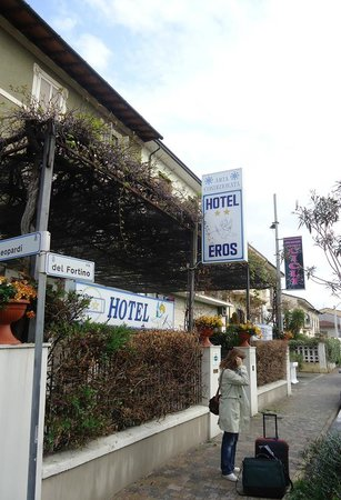 Hotel Eros: on the out side of the hotel