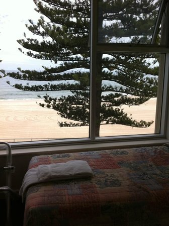 Glenelg, Australia: View from bed of first unit.