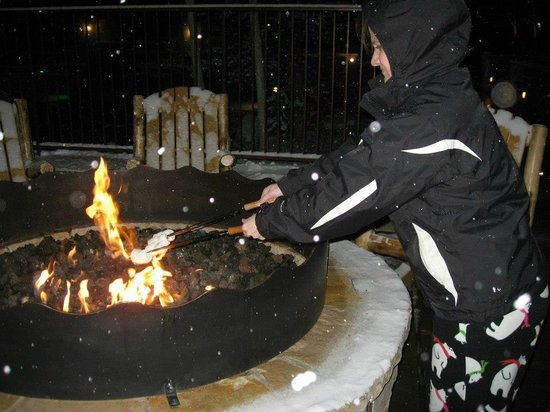 Marriott's MountainSide: Fire pits for smores! Yum