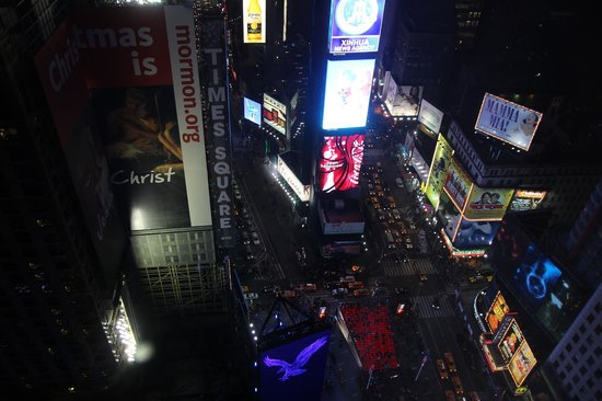 New York Marriott Marquis: View of Time Square from Room 3321