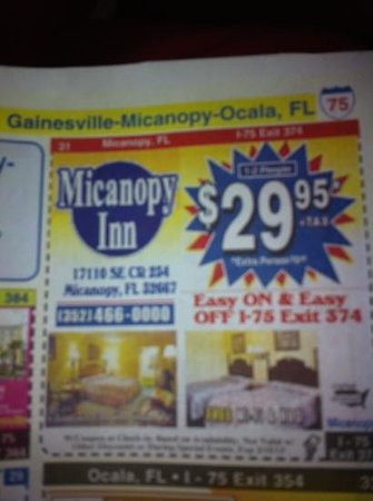 Micanopy Inn: taken on 1-7-13