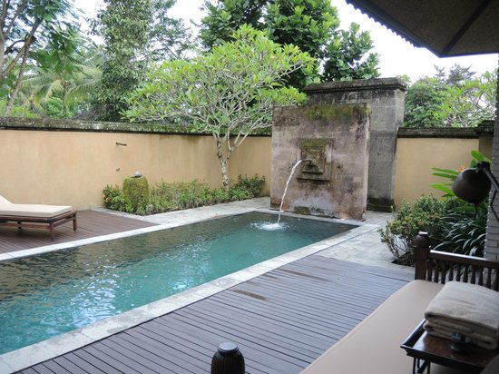 The Chedi Club Tanah Gajah a GHM Hotel: Our private pool