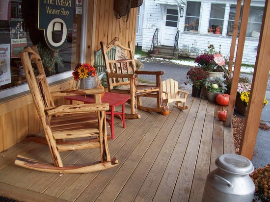 Colebrook, NH: Relax on the front porch.