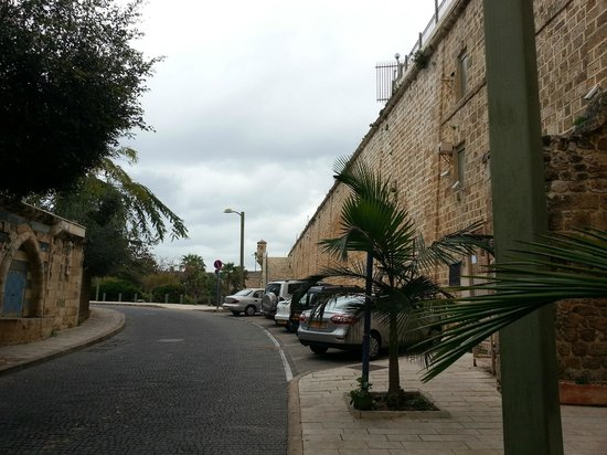 Akkotel: View of wall the hotel is built into