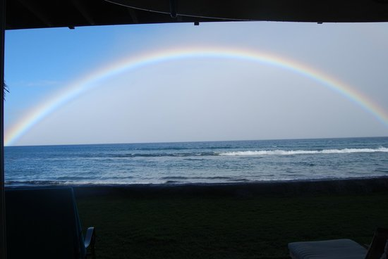 Maui Sands: A view from our Lanai as we prepared dinner!