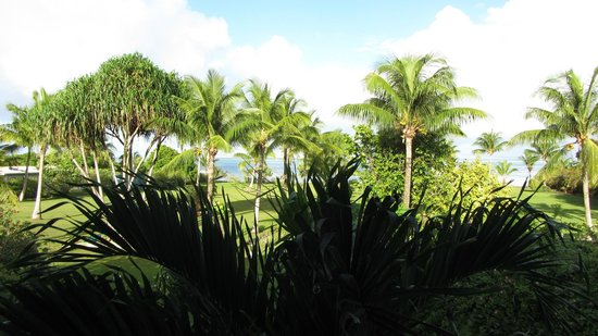 Raiatea Lodge Hotel: View from Balcony to Ocean
