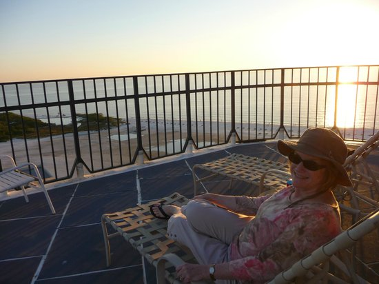 Pointe Estero Beach Resort: Up on the roof