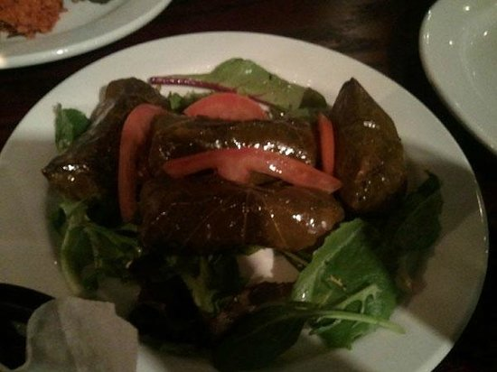 Northborough, MA: grape leaves with rice