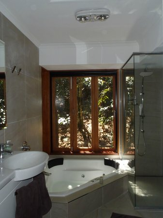 Narrows Escape Rainforest Retreat: Spa bathroom
