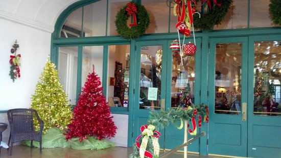The Hotel Jacaranda: Front Doors of the Hotel At Christmas 2012