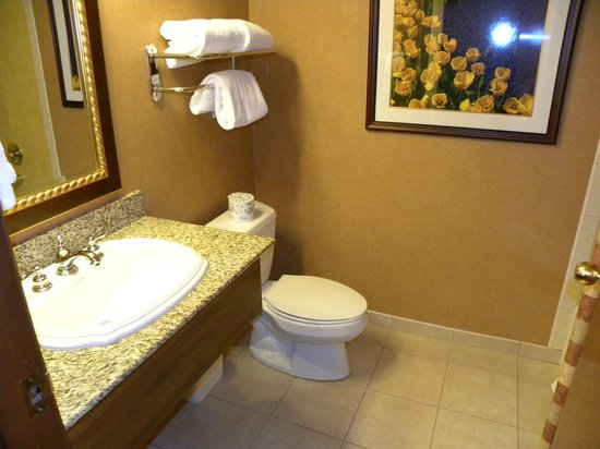 Olympic Lodge: Clean bathroom