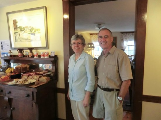 The Tuck Inn B&B: The owners with the breakfast buffet