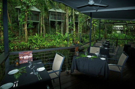 Daintree Eco Lodge & Spa: Rooms facing onto the restaurant