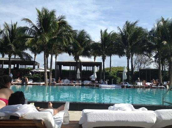 poolside living at the W South Beach