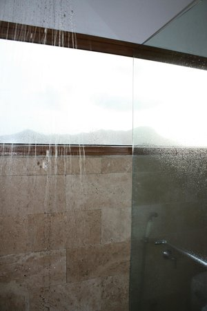 Los Mandarinos Boutique Spa &amp; Hotel Restaurant: Shower in the jacuzzi jr suite