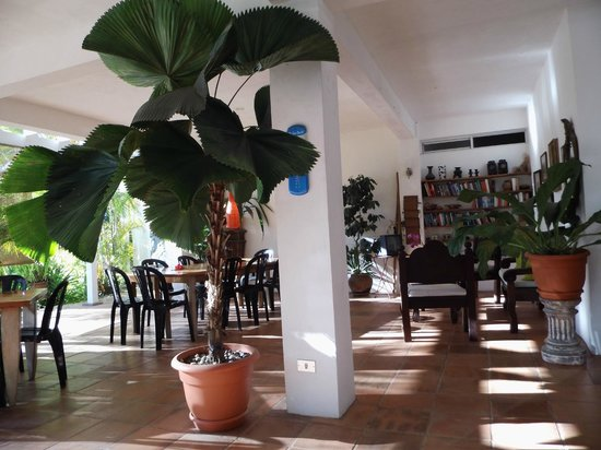 Hotel Horizontes de Montezuma: breakfast and sitting area