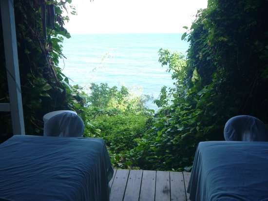 Couples Sans Souci: View from massage hut