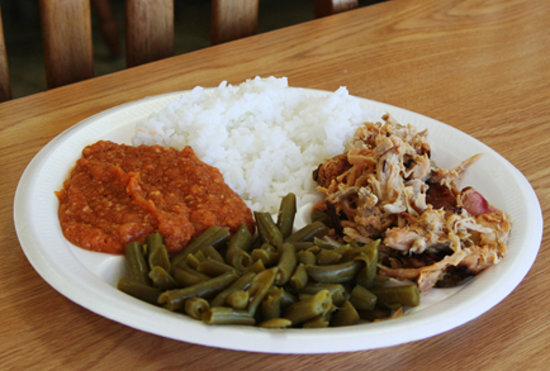 Leland, NC: Plate of barbecue and sides