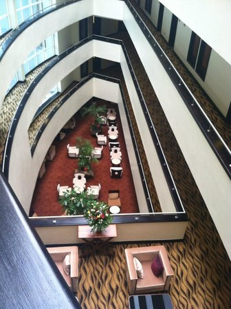 The Boma Nairobi: Looking down to the lobby