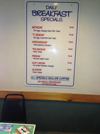 Auburn, ME: Breakfast Daily Specials
