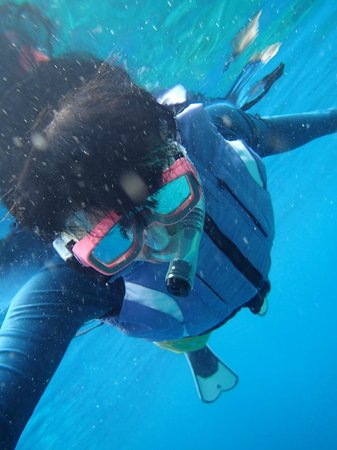 Bunaken Island Resort: Snorkling at the Beach