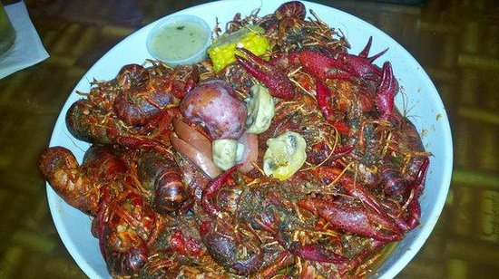 Kemah, Teksas: Boiled crawfish