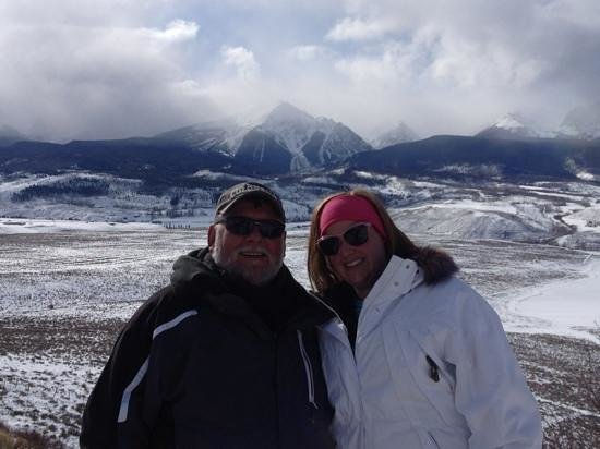 "Parshall, CO: The Coors Light ""Blue"" Mountain in the background."