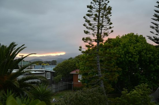 Admiralty Lodge Motel: view out of the door