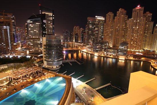 Top The Address Dubai Marina Photo: Pool view - night time 550 x 366 · 59 kB · jpeg