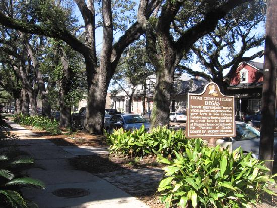 The Degas House: Degas House historic marker