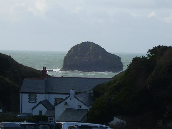 Michael House: From the car park at Trebarwith Strand's beach