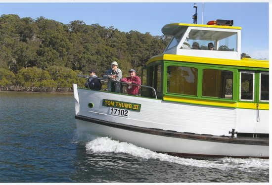Cronulla & National Park Ferry Cruises: MV Tom Thumb III on her 3 hour Port Hacking Scenic River Cruise