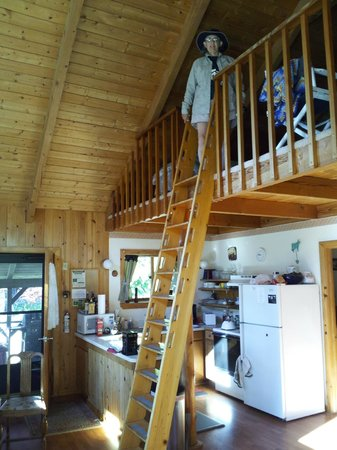 Silver Bay Inn &amp; Resort: inside our cabin ... access to the loft is by ladder