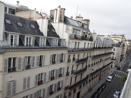 Hotel Le A: View from room to Rue d' Artois