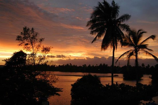 The Waterside Bentota: sunset from room balcony