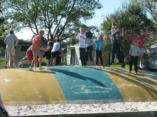 Borderland Holiday Park: Jumping Pillow - a BIG hit with the kids