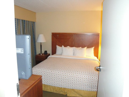 Embassy Suites Boston Logan Airport: bedroom for our 2nd stay