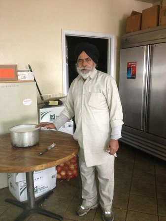 Sayre, OK: Raj Singh, the owner and cook!!