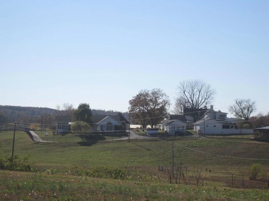 Hurricane Mills, TN: House on left: Current residence. House on right: Plantation