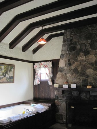 White Springs Manor: floor to ceiling fireplace