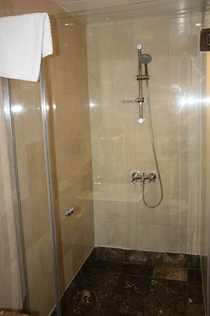 Number One Tower Suites: One of the en-suite showers