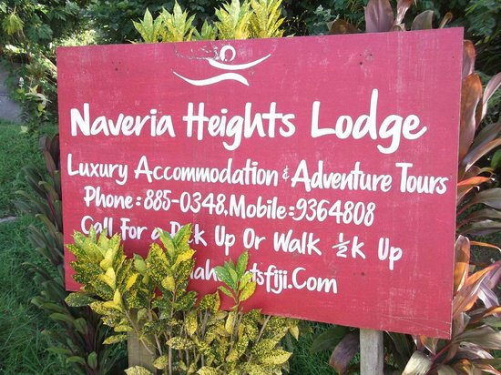 Naveria Heights Lodge:                   The sign!