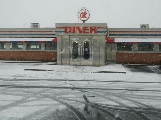 Hartlepool, UK: OK Diner in Winter