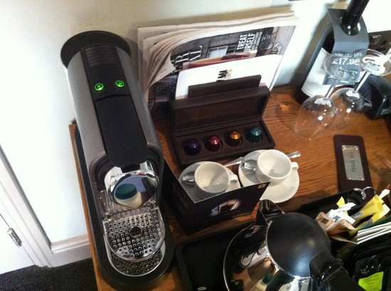 Hotel du Vin Cambridge:                   Coffee machine